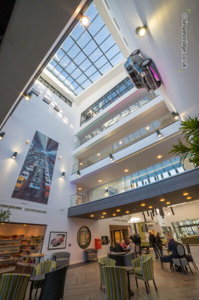 Impressive design features in Longbridge Extra Care Scheme, Birmingham. Mini on the wall receives lots of comments!