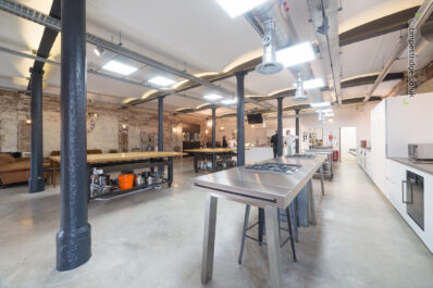 Exeter Cookery School's fantastic quayside warehouse location