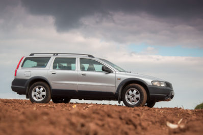 The XC70s increased ground clearance helps with towing, lugging camera gear or transporting 6 occupants cross country.